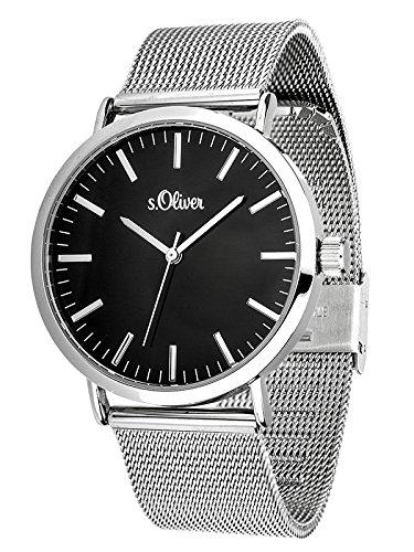 S.Oliver Damen Armbanduhr SO-3325-MQ (silber oder rosé)