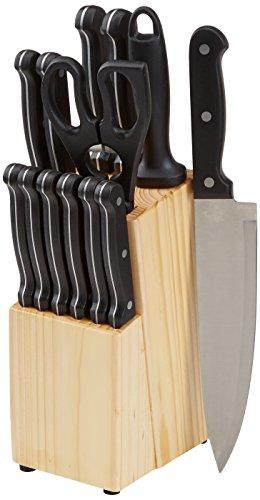 AmazonBasics Messerblock, 14-teiliges Set nur 12,99€