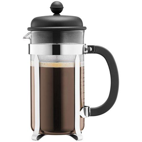 Bodum CAFFETTIERA Kaffeebereiter (French Press System, Permanent Edelstahlfilter, 1,0 Liter)