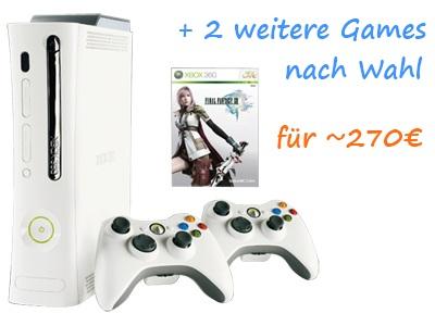 Neues XBox-Bundle: Super Elite mit Final Fantasy XIII und 2 weitere Spiele für 270€