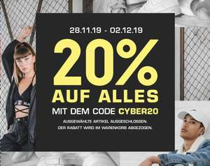 [Snipes] Cyber Deals -20% + Gratis Versand