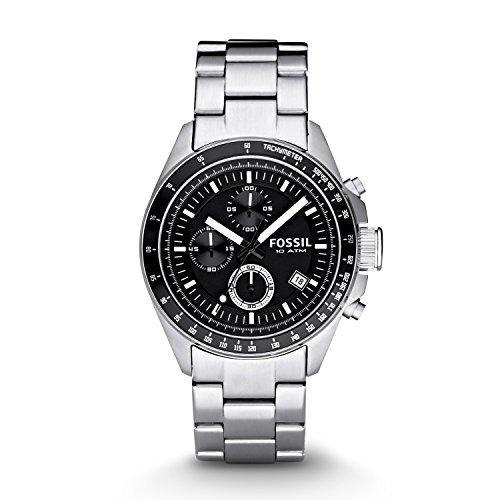 Fossil Herren Chronograph Quarz Uhr mit Edelstahl Armband CH2600IE