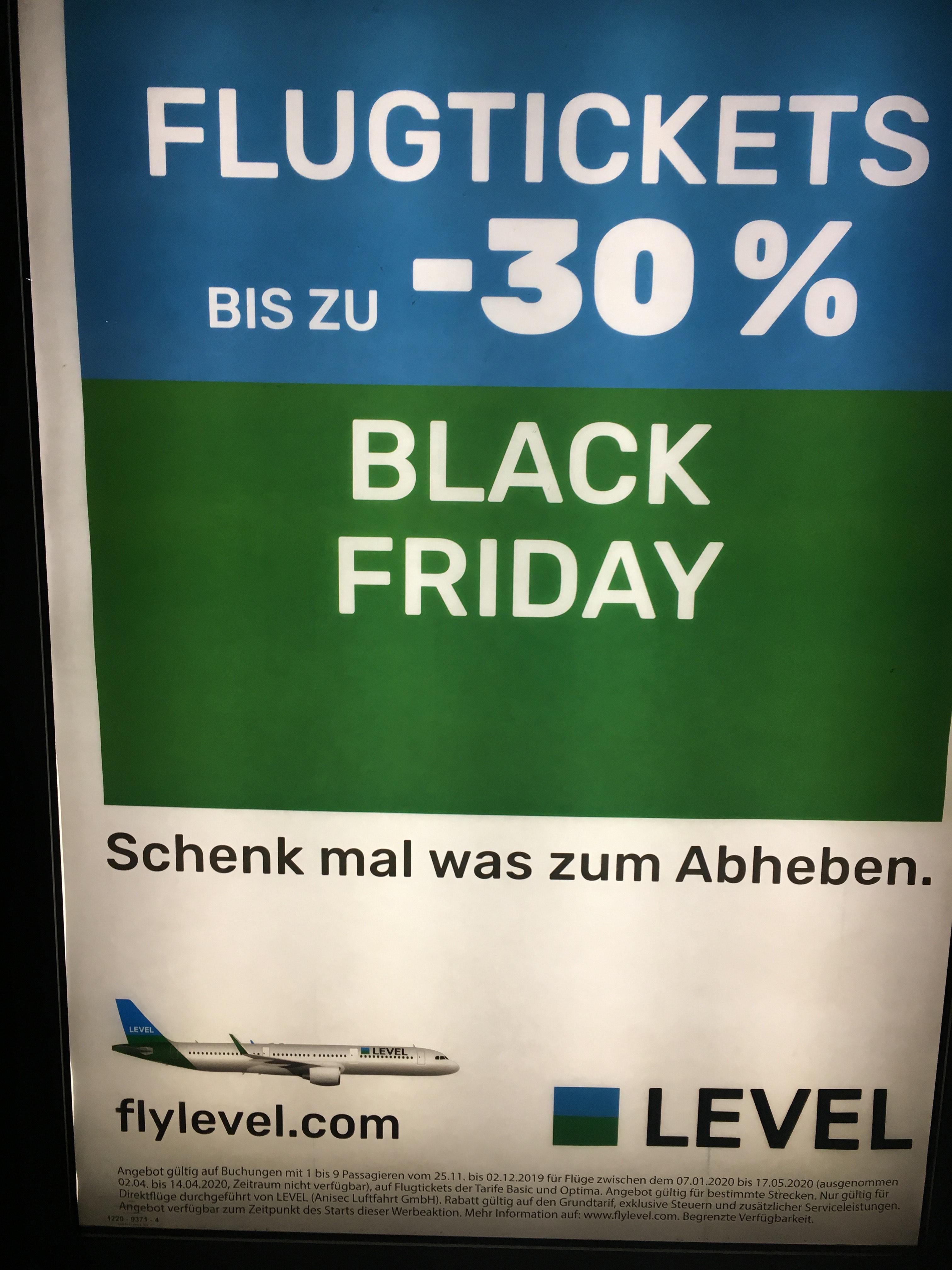 Bei Flylevel bis zu 30%