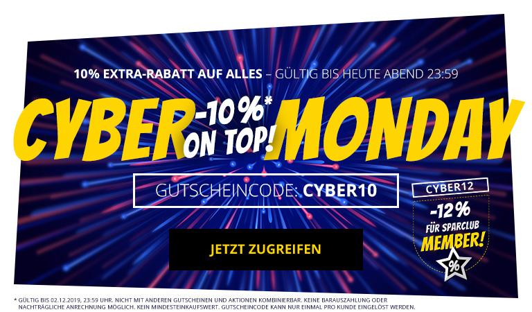 (Händlerdeal) CYBER-MONDAY [SPORTSPAR.DE] 10% EXTRA-RABATT auf das GESAMTE SORTIMENT