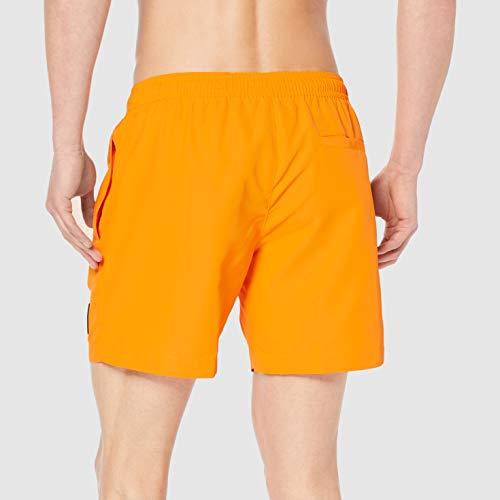 Calvin Klein Herren MEDIUM Drawstring Badehose, Orange (Turmeric 804), XX-Large (Herstellergröße: XXL)