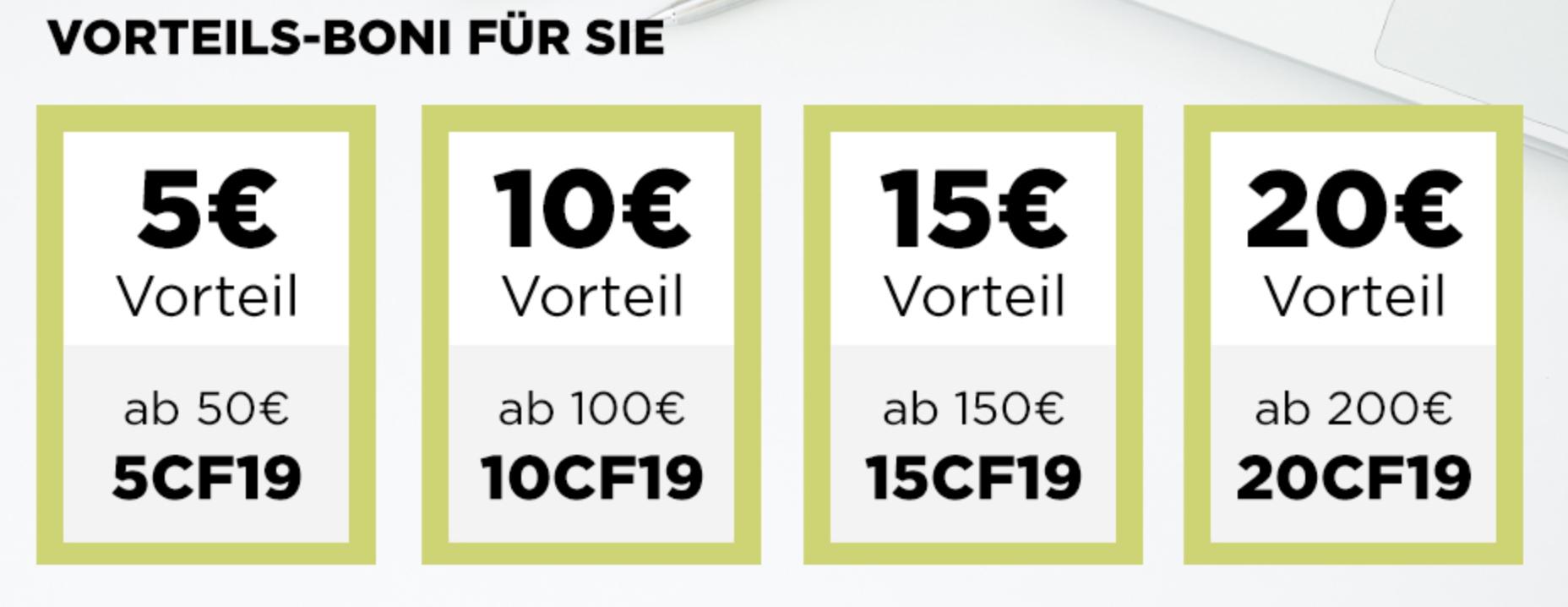 CEWE-Gutscheine für Fotoprodukte (5€, 10€, 15€, 20€)