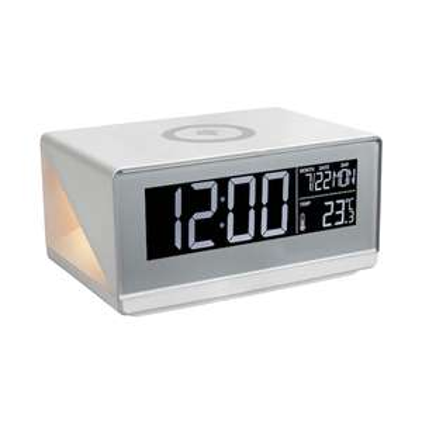MEDION® LIFE® E75009 Weckstation, LC-Display, Qi Ladepad, Touchbedienung, Nachtlicht, Innenraum-Temperaturanzeige