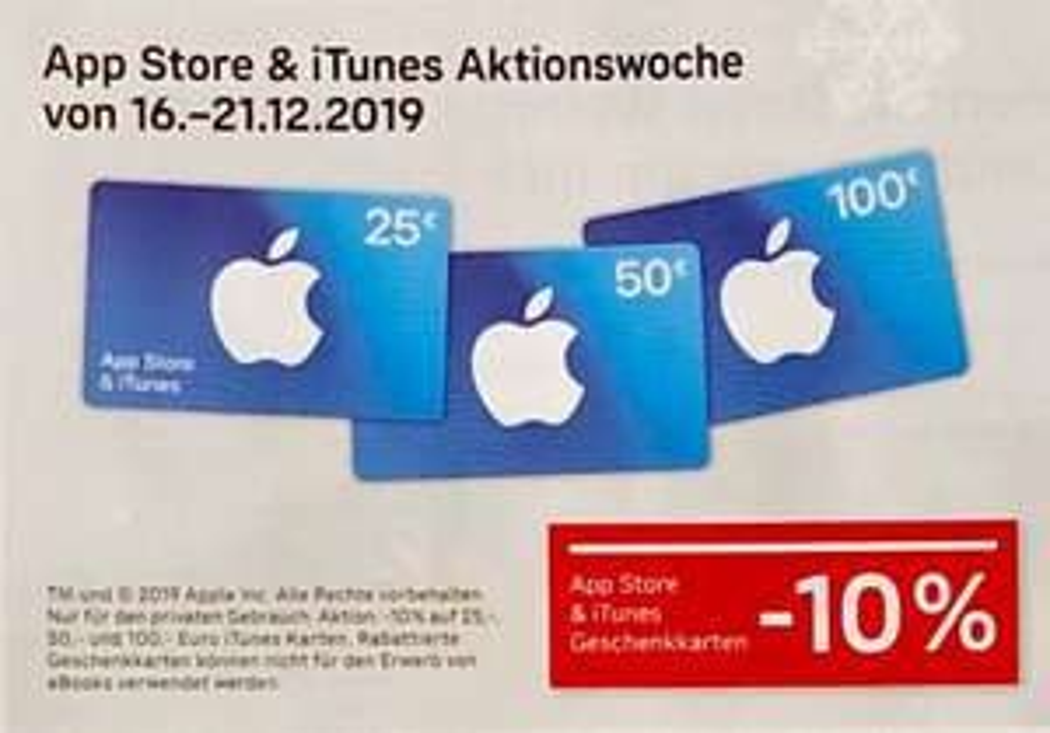 Post: 10% Rabatt auf alle App Store Karten - 16.12.2019 – 21.12.2019
