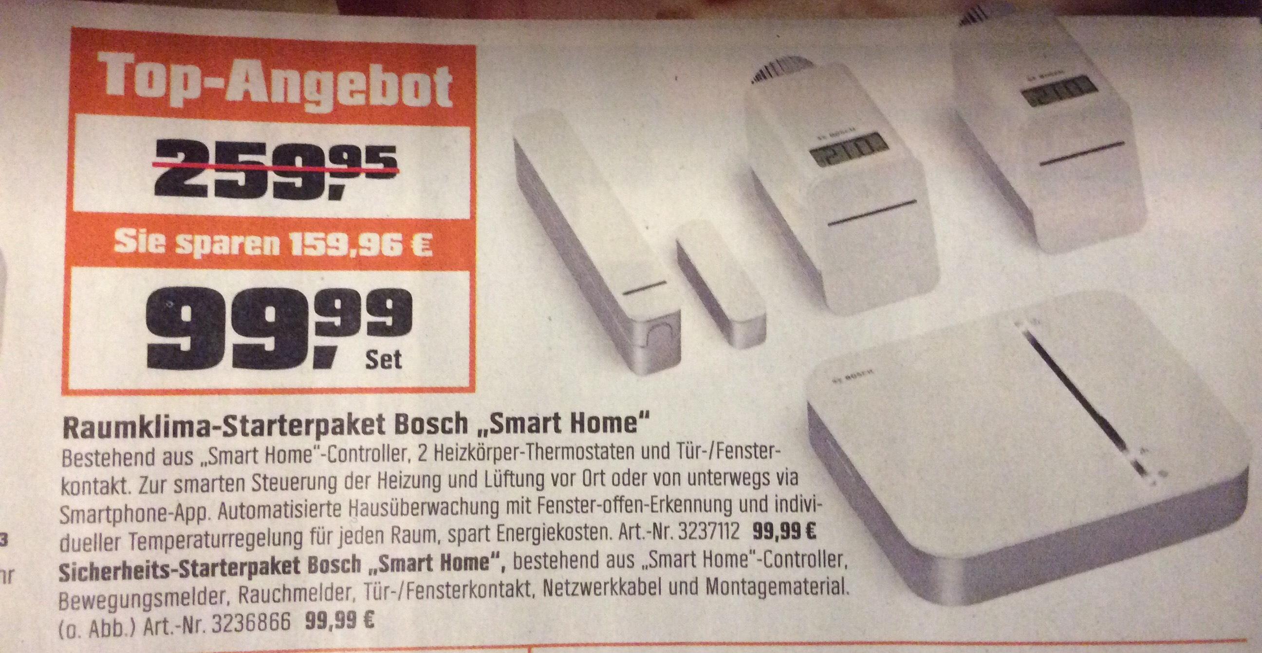 Obi Bosch Raumklima Starterpaket Smart Home oder Sicherheitspaket