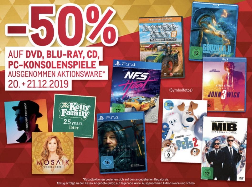 METRO -50% auf DVD, Blu Ray, CD, Konsolenspiele