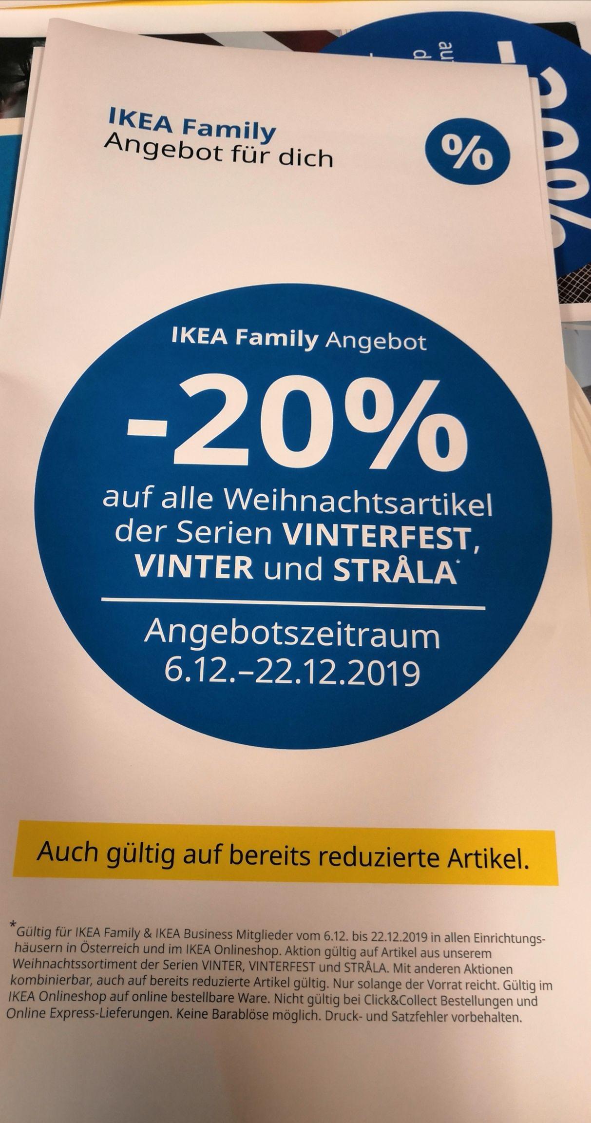 IKEA 20% aufs Weihnachtssortiment