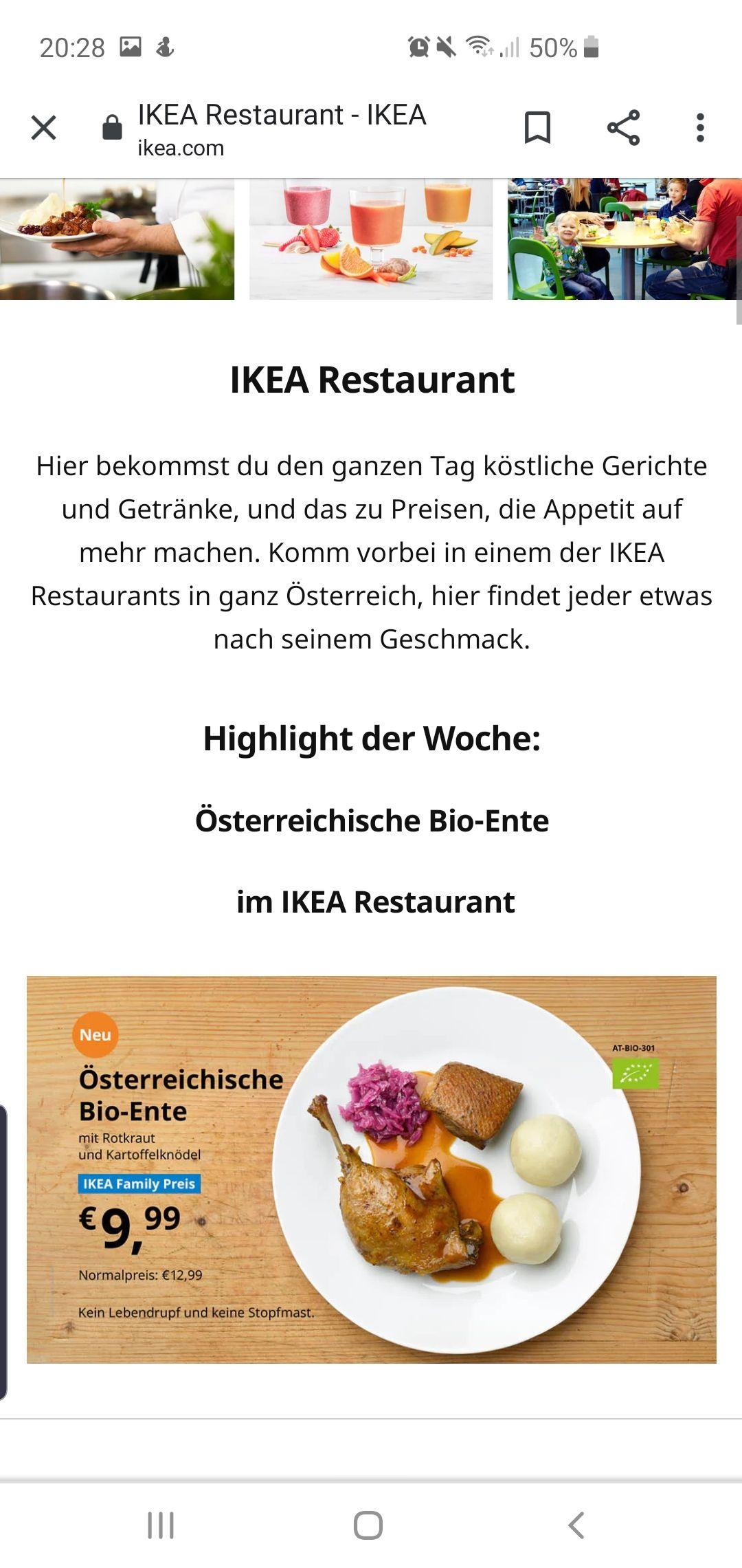 IKEA Family Preis Österreichische Bio-Ente