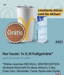 "McDonald's - GRATIS Red Bull ""Winter Edition"" (Gletschereis)"