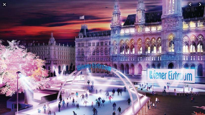 Wiener Eistraum am Rathausplatz - GRATIS Eislaufen - am 22.1.2020 und am 01.03.2020 (jeweils 19-22 Uhr) + täglich von 21:30-22 Uhr