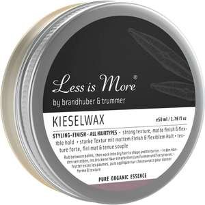 2x Haarwax: Less is More Kieselwax (100 % Naturkosmetik)