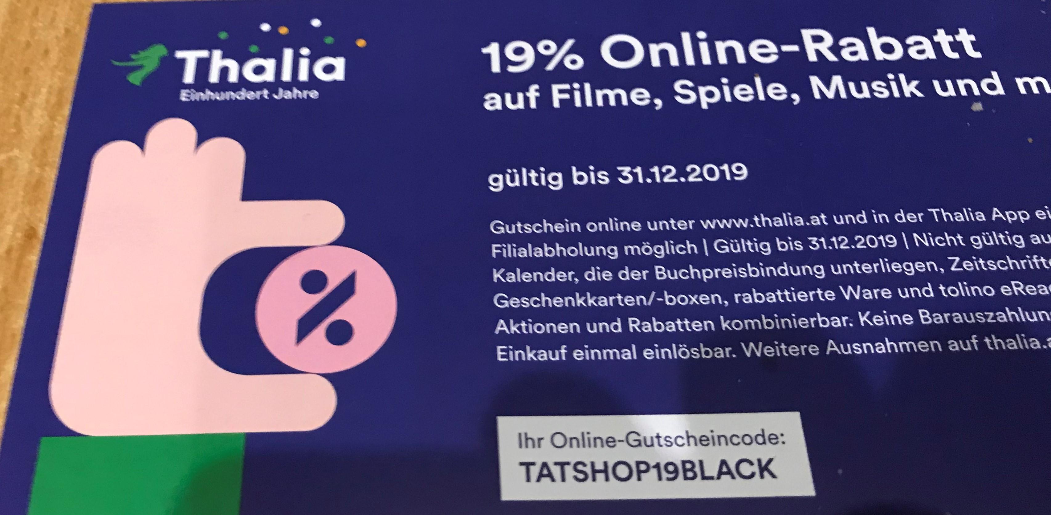 19% Rabatt bei Thalia