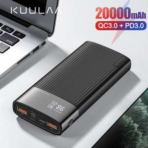 Power Bank 20000 mAh USB Typ C PD Schnelle Lade + Quick Charge 3,0 Power 20000 mAh Externe Batterie