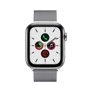 Apple Watch Series 5 (GPS + Cell) 44mm Edelstahl silber mit Milanaise-Armband