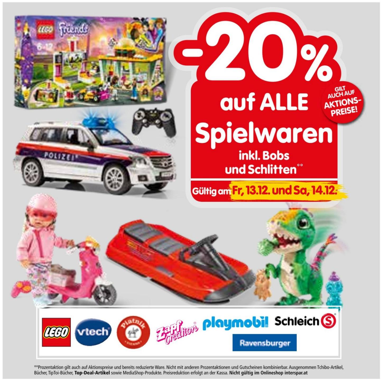 [Interspar] -20% auf alle Spielwaren (z.B. Lego, Playmobil, ...)