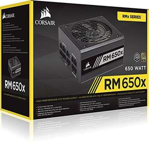 Corsair RM650x PC-Netzteil (Voll-Modulares Kabelmanagement, 80 Plus Gold, 650 Watt)