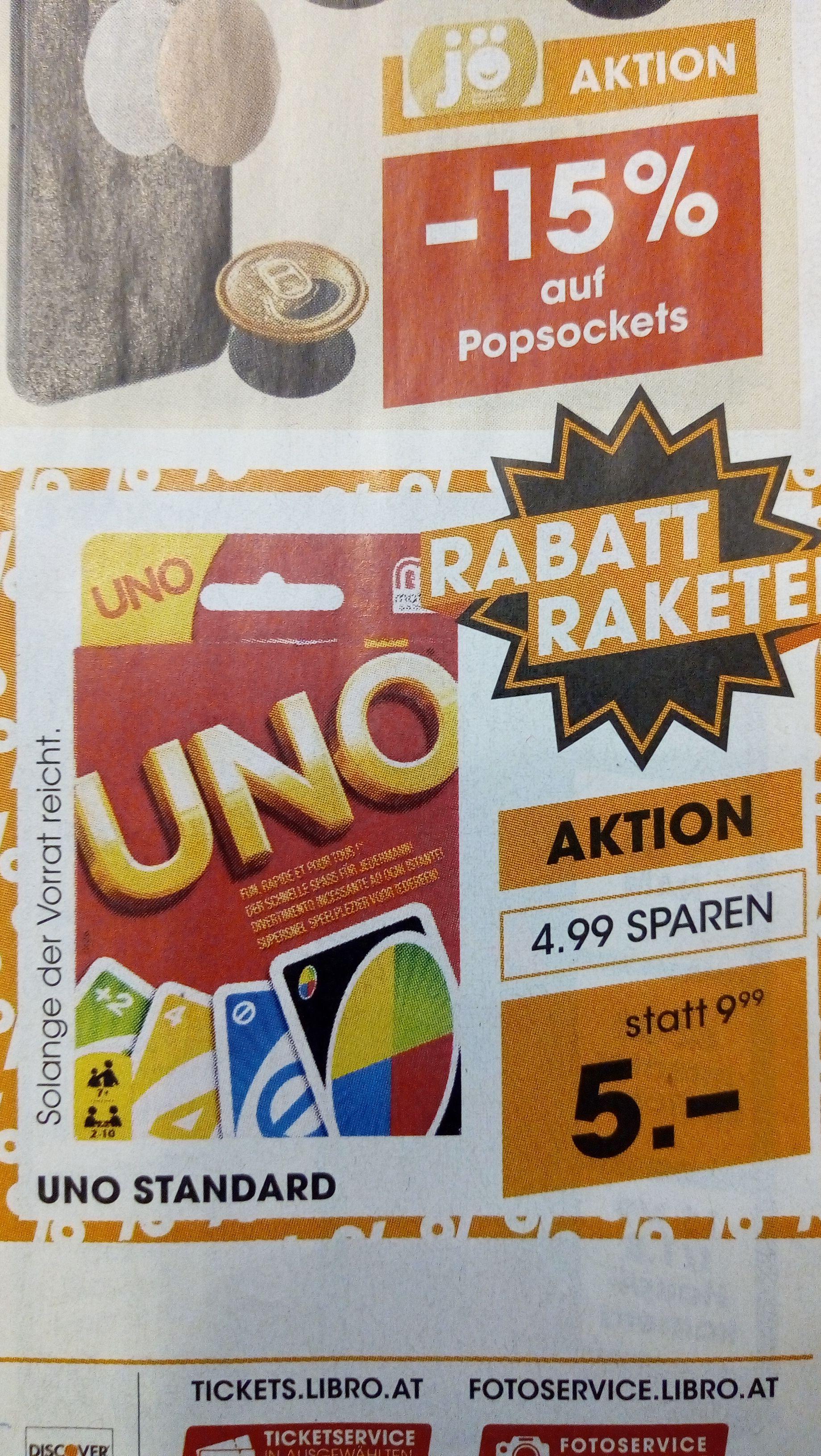 Uno bei Pagro um 4,99 Euro und LIBRO um 5 Euro ab Donnerstag