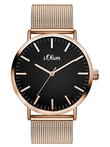 [Amazon] S.Oliver Damenarmbanduhr SO-3325-MQ (rosé-schwarz)