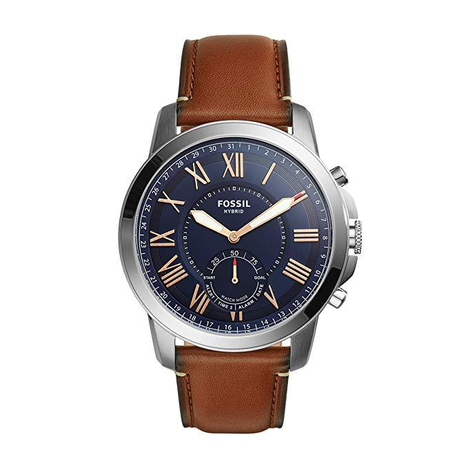 Fossil Uhren z.B. Fossil Herren Hybrid Smartwatch Q Grant FTW1122 für 101€