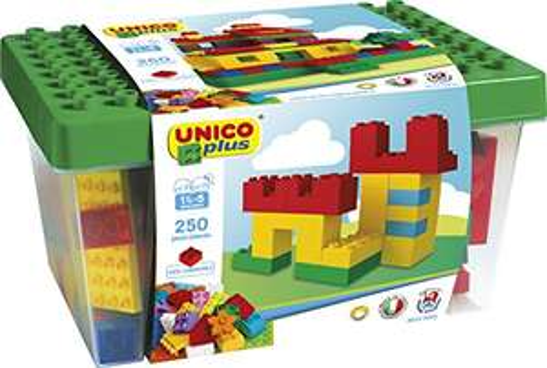 Preisjäger Junior: Unico Plus Big Box, 250 Bausteine (100% kompatibel zu Lego Duplo)