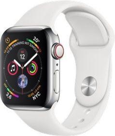 Apple Watch Series 4 (LTE, 40mm, silber) mit Edelstahl Gehäuse