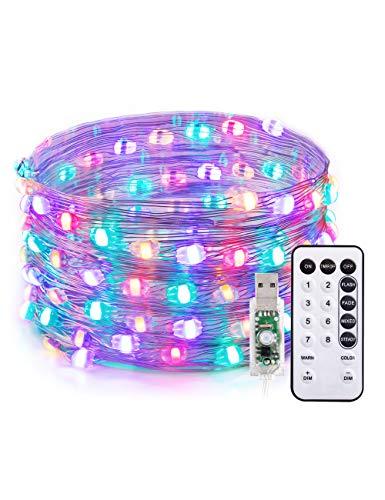 100er LED Draht-Lichterkette von TaoTronics (10Meter, RGB + Fernbedienung)