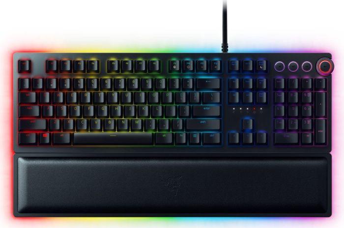 Razer Huntsman Elite Mechanische Gaming Tastatur (mit Opto-Mechanical Schaltern, RGB Chroma Beleuchtung)