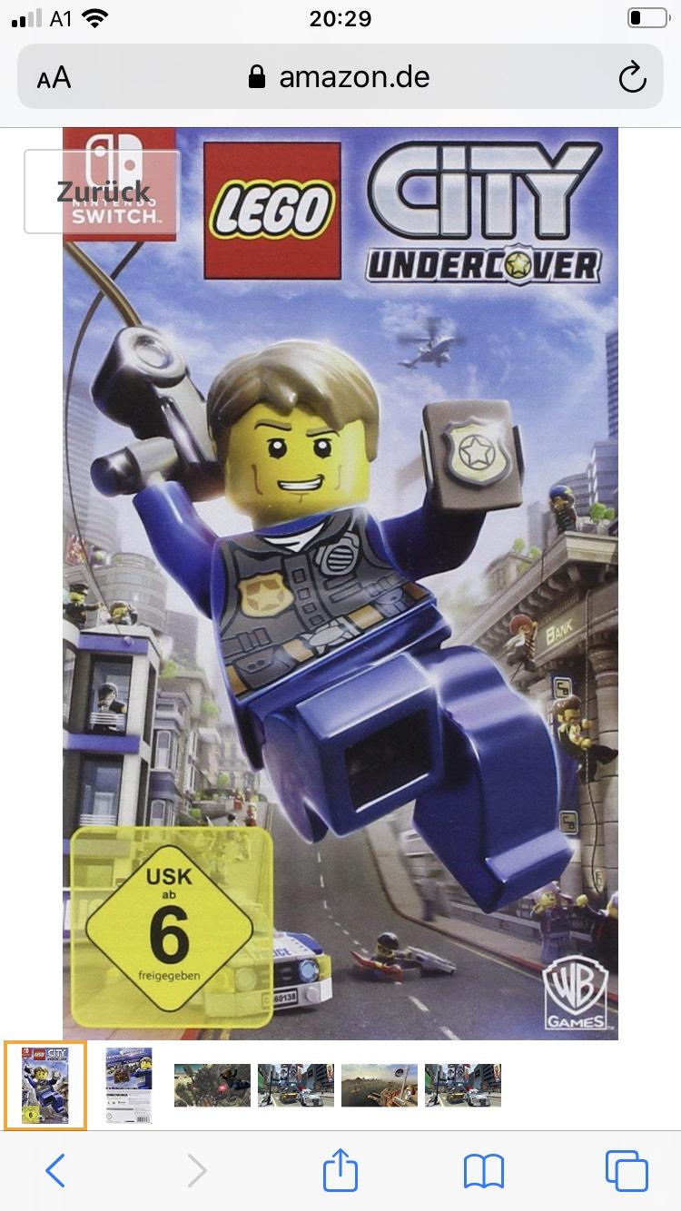 Lego City Undercover für Nintendo Switch um 24,74€