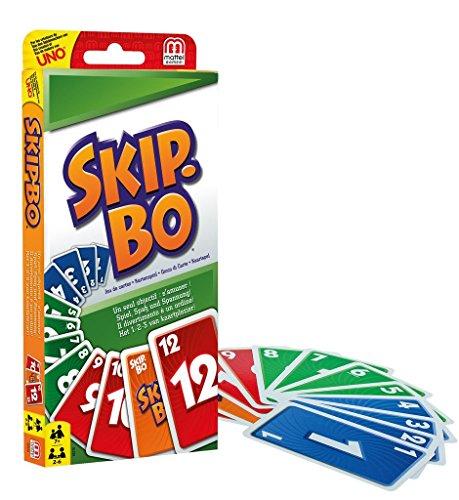Skip-Bo Kartenspiel, geeignet für 2 - 6 Spieler, Spieldauer ca. 30 Minuten, Kartenspiele