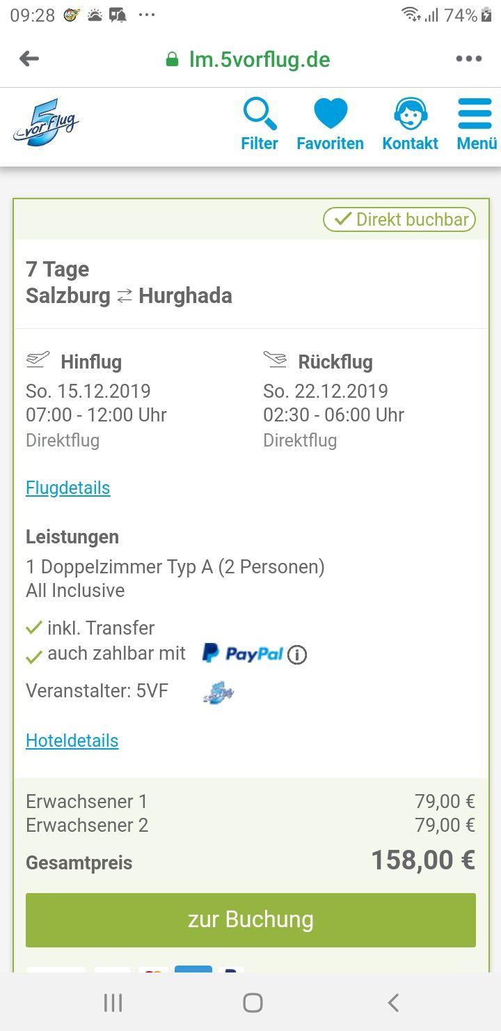 Ägypten für 2 Personen um 158 Euro Al