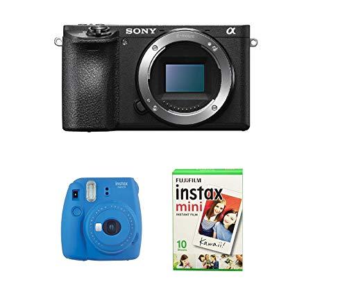 Sony Alpha 6500 APS-C Gehäuse + Fujifilm Instax Mini 9 Kamera + Fujifilm Film