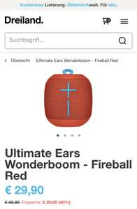 Ultimate Ears Wonderboom in Rot