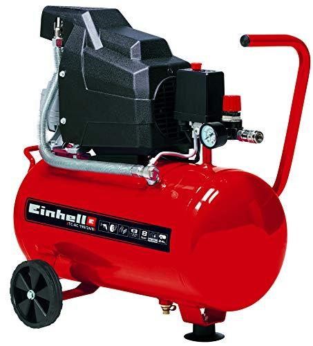 Einhell Kompressor TC-AC 190/24/8 (max. 8 bar, 24 l-Tank, Ölschmierung, Druckminderer, Sicherungsventil, Standfuß mit Gummipuffer)