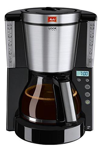 Melitta Look Timer Filterkaffeemaschine (Glaskanne, Timer-Funktion, AromaSelector)