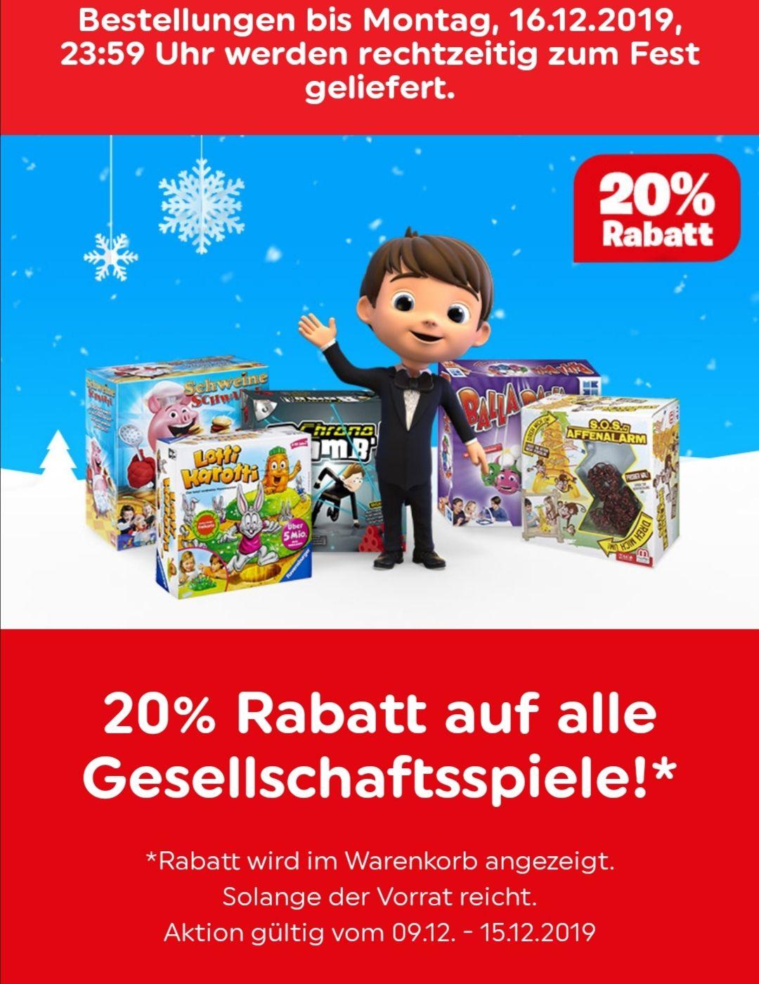 Smyth Toys - 20% auf Gesellschaftsspiele
