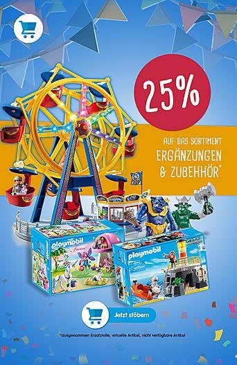 25% und mehr Rabatt bei Playmobil