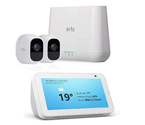 Arlo Pro2 Smart Home 2 HD-Überwachungskameras & Alarmanlage + GRATIS Amazon Echo Show 5