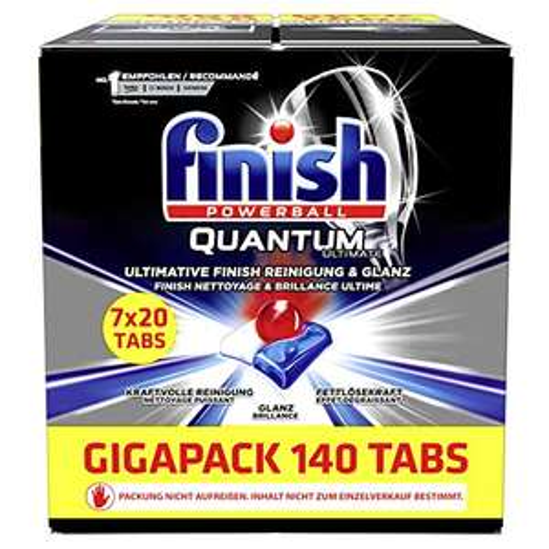 AMAZON.de l 140 Tbas l Finish Quantum Ultimate Gigapack Spülmaschinentabs l 7 Packung mit je 20 Tabs Einzeln verpackt!
