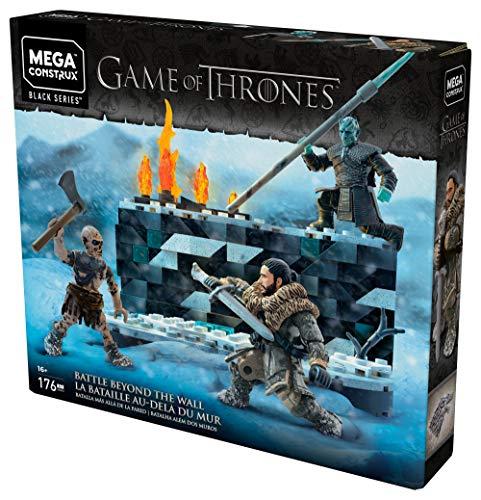 Game of Thrones Weiße Wanderer Schlacht, Bauset mit Actionfiguren inkl. Johannes Schnee und Nachtkönig (Mega Construx GKG96)