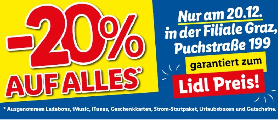 [lokal] -20% auf alles bei Lidl (Graz, Puchstraße und Liezen)