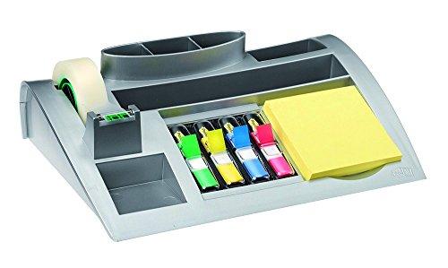 Post-it Tisch-Organizer mit 7 Fächern (inkl. Post it Haftnotizen, 4-farbigen Post-it Index Haftstreifen & Scotch Klebeband)