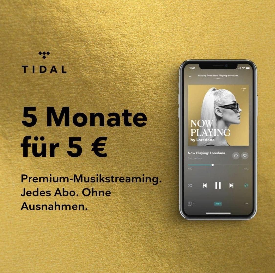 5 Monate Tidal Premium/Hifi [Neukunden]