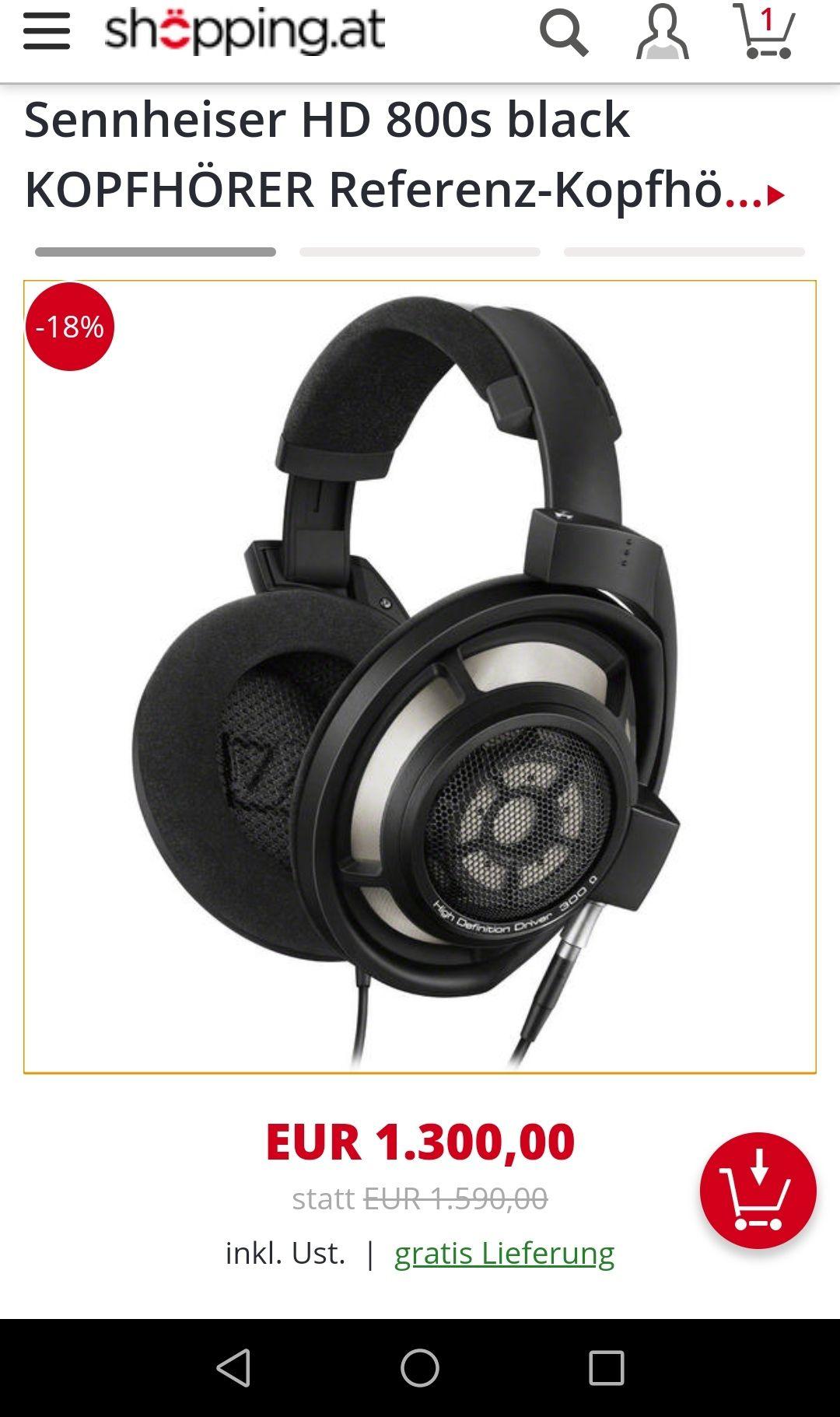 Sennheiser HD 800s black KOPFHÖRER Referenz-Kopfhörer inkl. sym. XLR Kabel