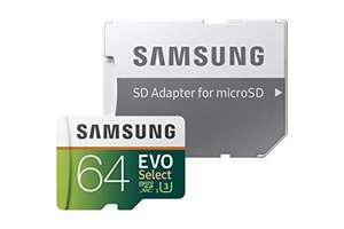 Samsung EVO Select 64 GB microSDXC Speicherkarte inkl. SD-Adapter Weiß/Grun