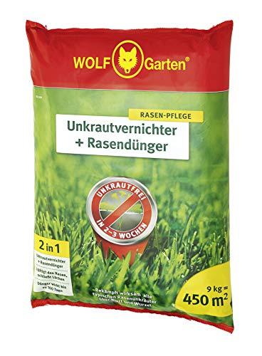 WOLF-Garten - 2-in-1: Unkrautvernichter plus Rasendünger für 450m²