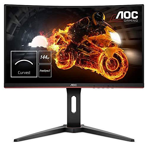 AOC Gaming C24G1 59,9 cm (23,6 Zoll) Curved Monitor TIEFPREIS ! FHD, HDMI, 1ms Reaktionszeit, DisplayPort, 144Hz,1920x1080 Pixel, FreeSync
